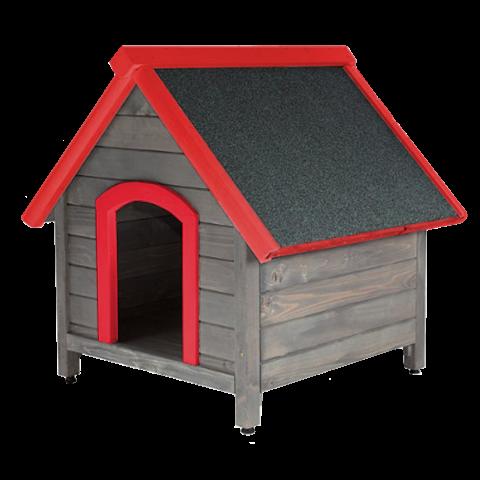 Къща за куче от естествена дървесина